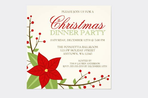 Holiday Dinner Invitation Template Inspirational 9 Holiday Dinner Invitation Templates Psd Eps Ai