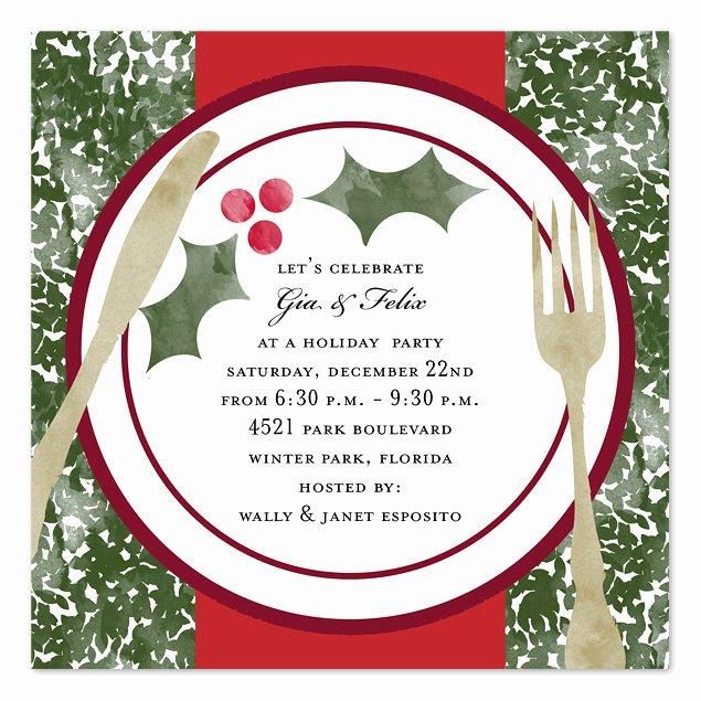 Holiday Dinner Invitation Template Inspirational Holiday Dinner Holiday Invitations by Invitation