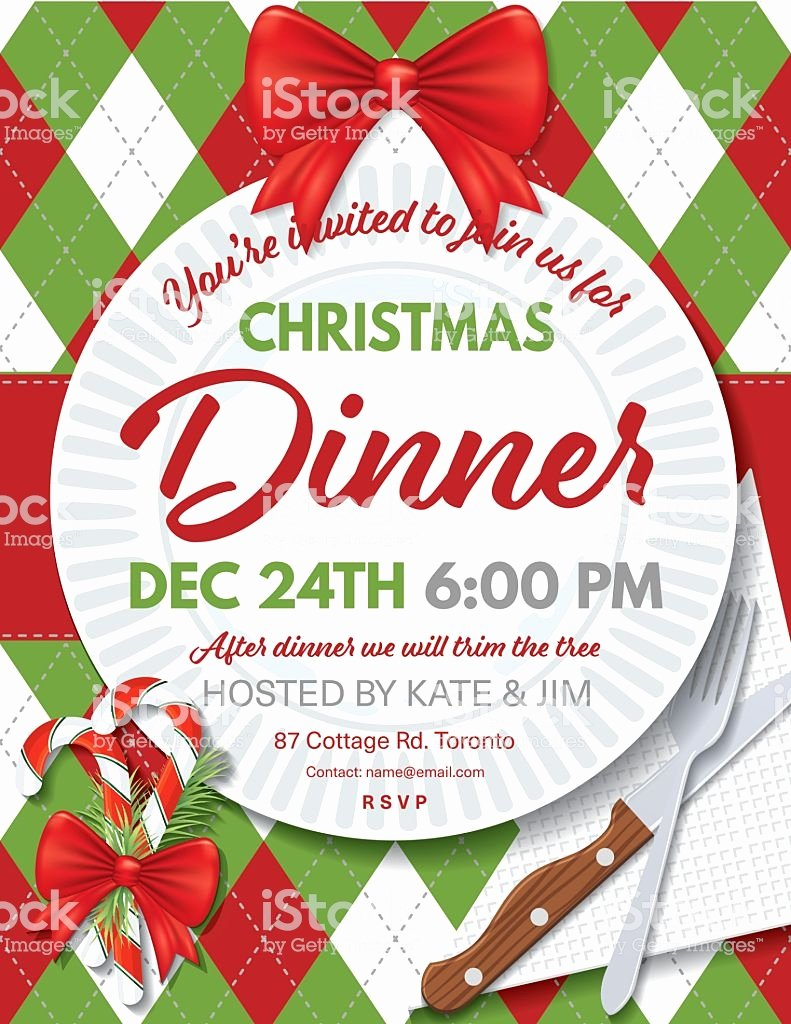 Holiday Dinner Invitation Template Luxury Argyle Tablecloth Christmas Dinner Invitation Template