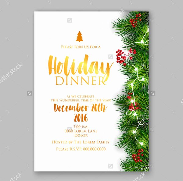 Holiday Dinner Invitation Template New 10 Holiday Dinner Invitation Psd Ai