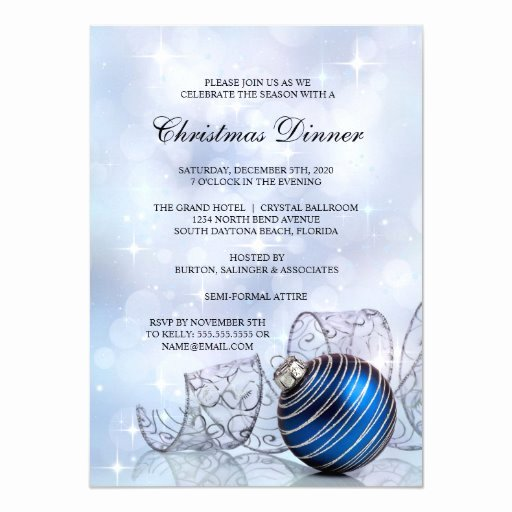 Holiday Dinner Invitation Template New Christmas Dinner Party Invitation Template