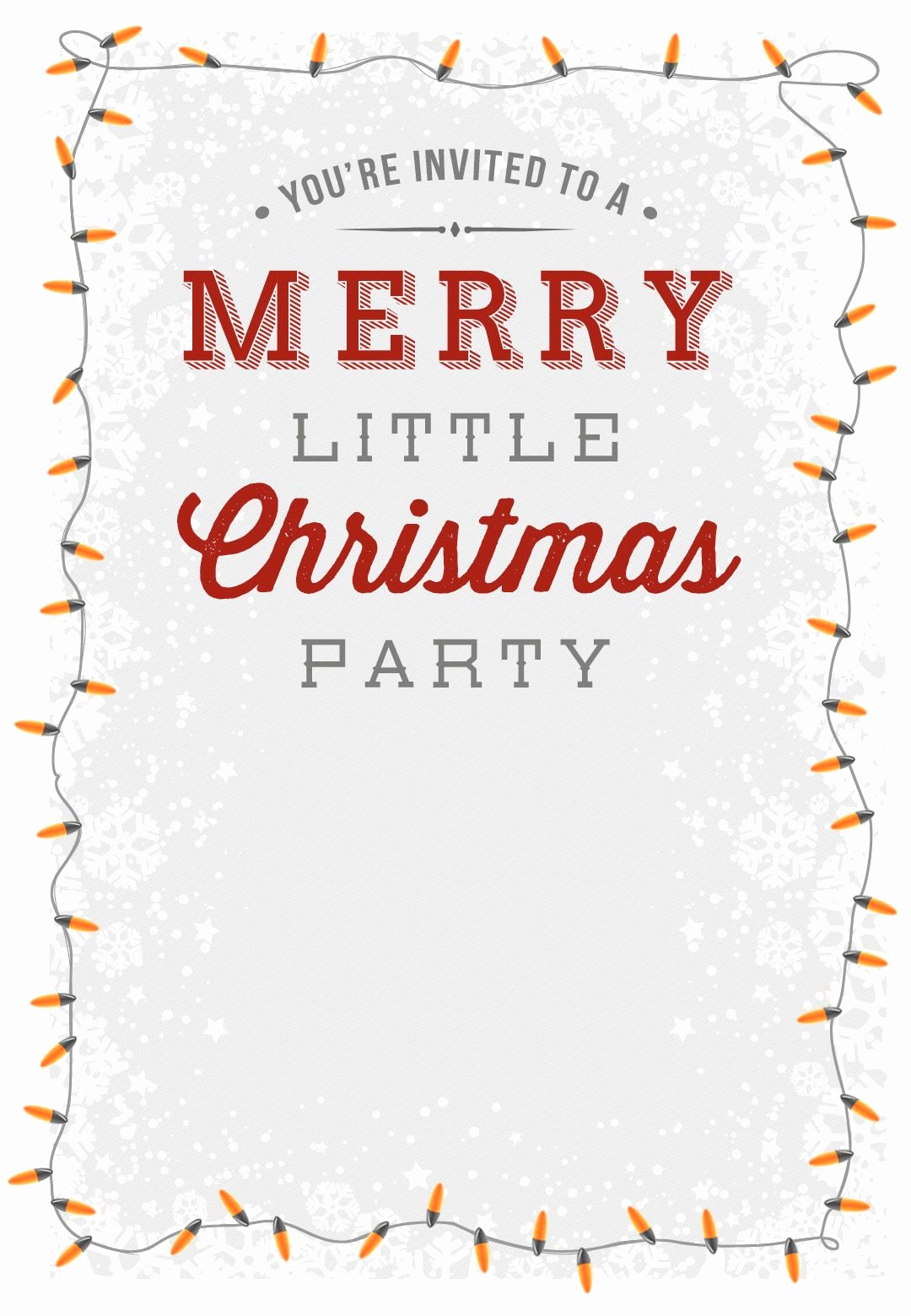 Holiday Dinner Invitation Template Unique A Merry Little Party Free Printable Christmas Invitation
