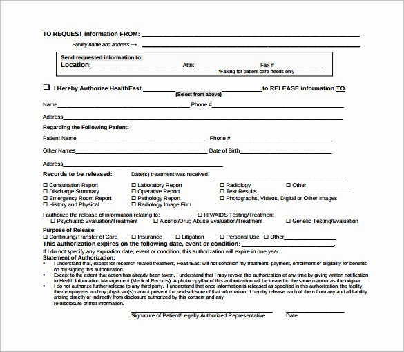Hospital Discharge form Template Fresh Sample Hospital Release form 11 Download Free Documents