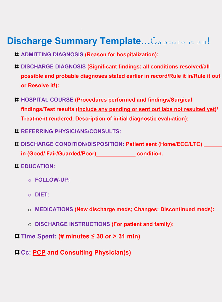Hospital Discharge form Template Lovely 11 Free Discharge Summary forms In General format