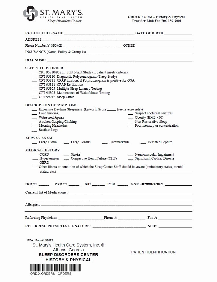 Hospital Release form Template Elegant Referral forms St Mary S Hospital and Health Care System