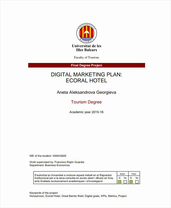 Hotel Marketing Plan Template Fresh 12 Hotel Marketing Plan Templates Pdf Word Docs