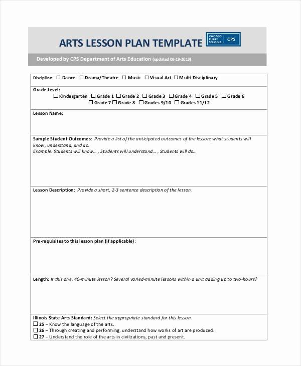 Ib Lesson Plan Template Unique 59 Lesson Plan Templates Pdf Doc Excel
