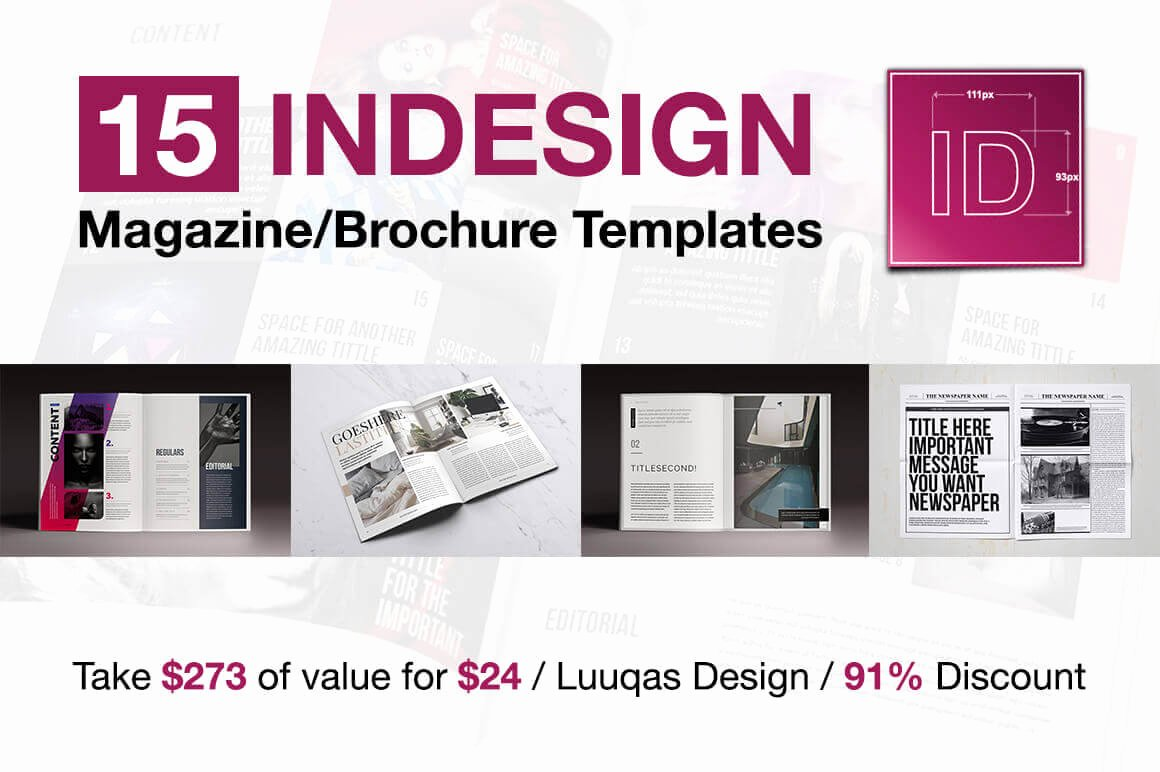 Indesign order form Template Beautiful Last Chance 15 Indesign Magazine & Brochure Templates