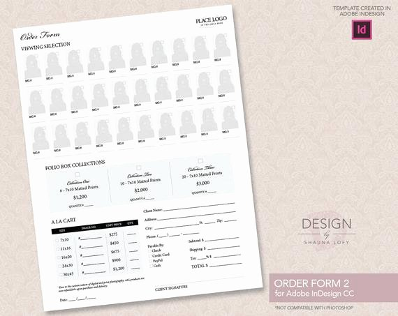 Indesign order form Template Beautiful Portrait order form Design 1 Template by Designbyshaunalofy