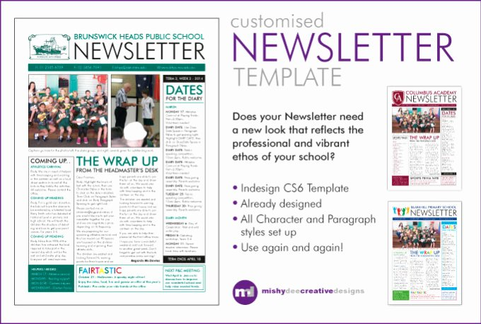 Indesign order form Template Lovely Customise A Newsletter Template In Indesign