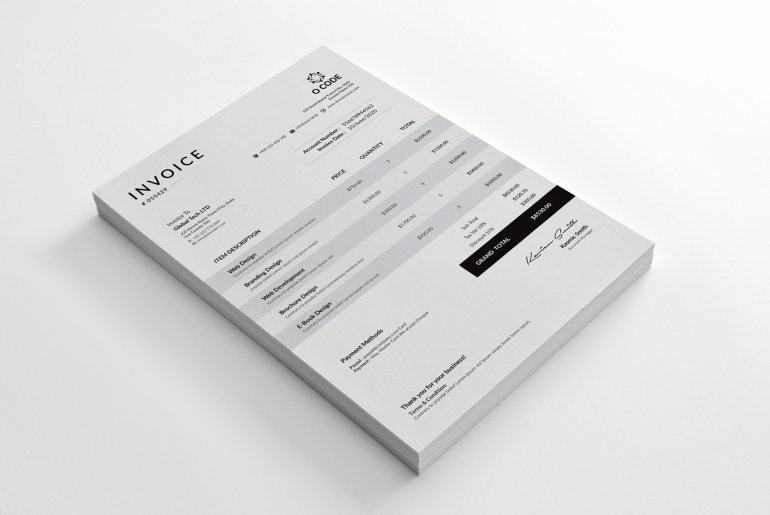 Indesign order form Template Luxury 30 Modern Invoice Templates Word Excel Indesign