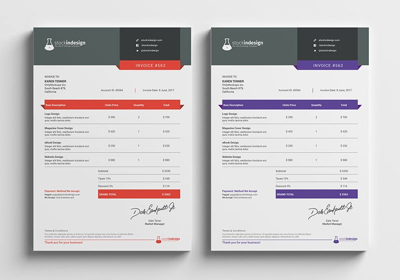 Indesign order form Template New Graphic Design Invoice Template Indesign