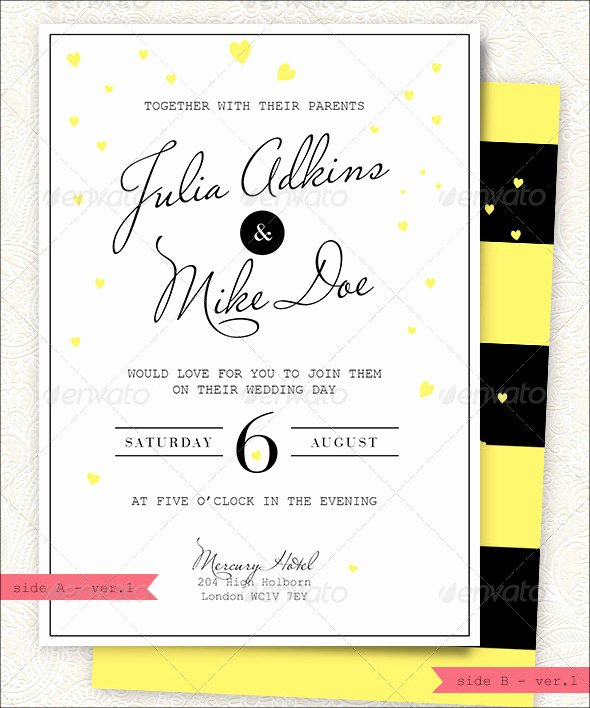 Indesign Wedding Invitation Template Awesome Modern Wedding Invitation 20 Psd Jpg Indesign format