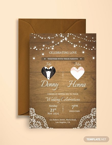 Indesign Wedding Invitation Template Best Of Free Traditional Wedding Invitation Template Download 517