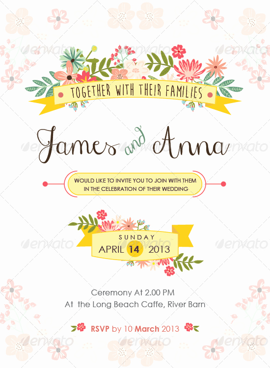 Indesign Wedding Invitation Template Elegant 37 Awesome Psd & Indesign Wedding Invitation Template