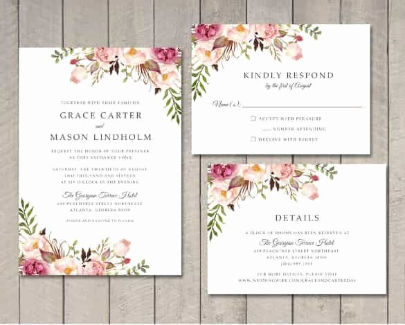 Indesign Wedding Invitation Template Elegant Wedding Invitation Template 71 Free Printable Word Pdf