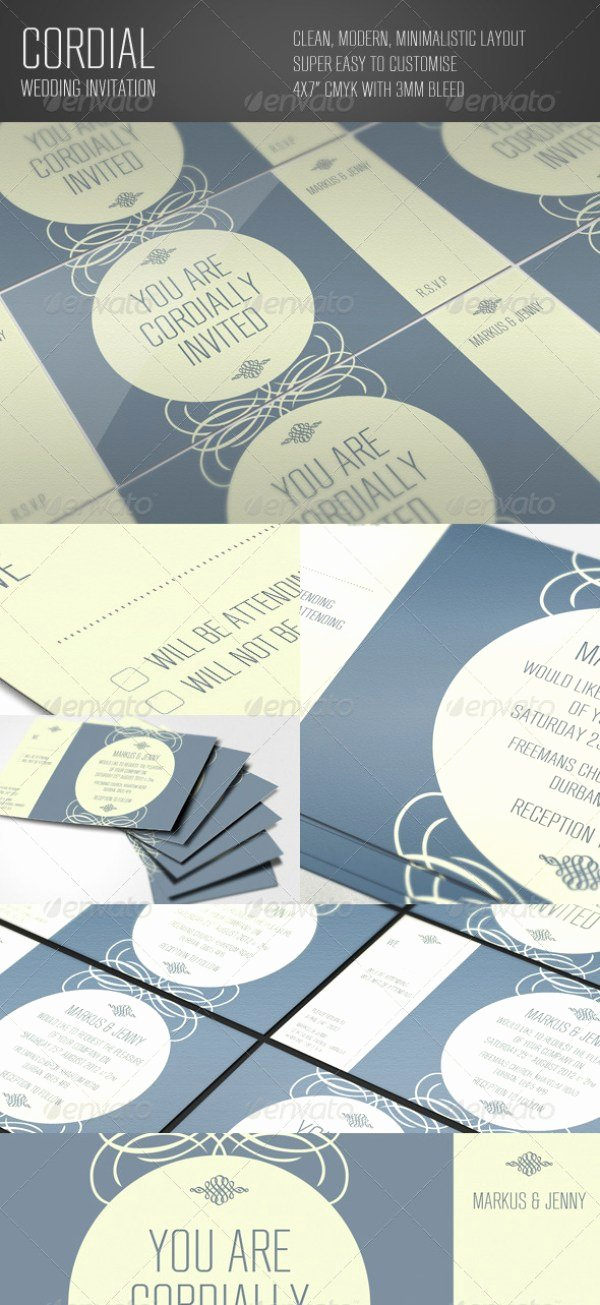 Indesign Wedding Invitation Template Inspirational 37 Awesome Psd & Indesign Wedding Invitation Template