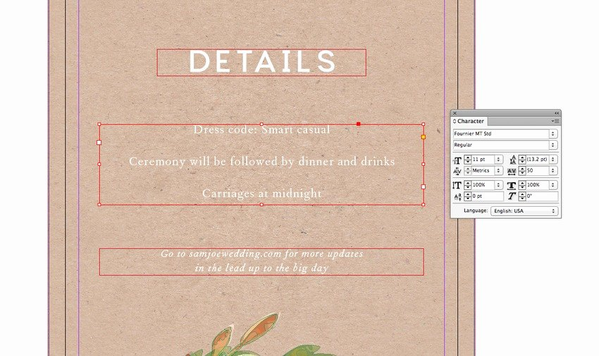 Indesign Wedding Invitation Template Lovely How to Create A Rustic Wedding Invitation Template In