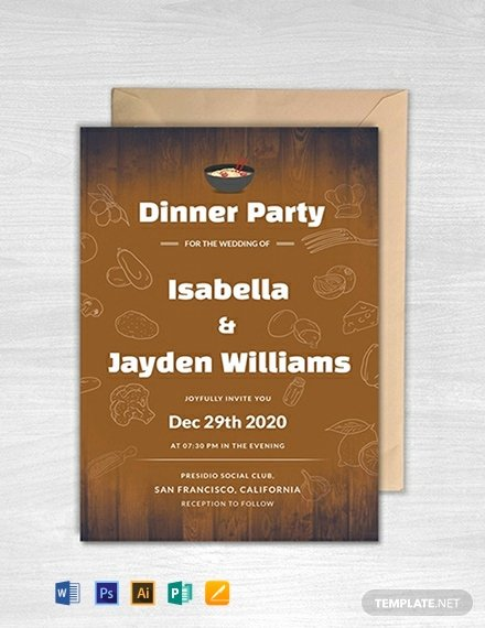 Indesign Wedding Invitation Template Luxury 28 Free Dinner Invitation Templates Word