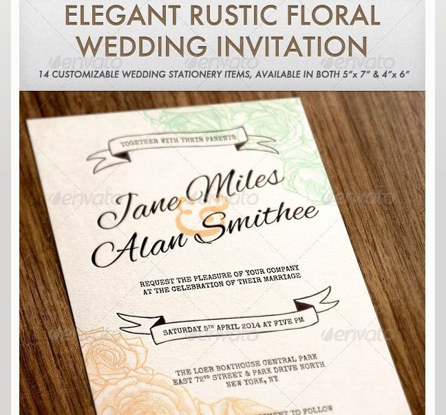Indesign Wedding Invitation Template New 102 Best Psd Templates Images On Pinterest