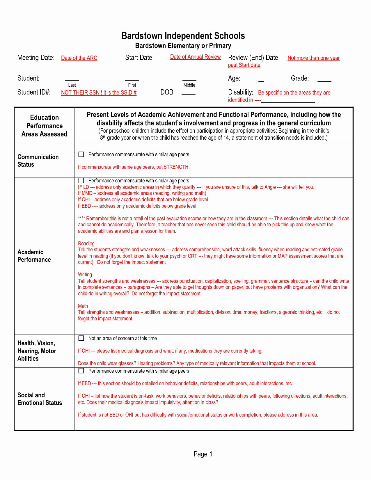 Individual Education Plans Template Beautiful Sample Individual Learning Plan