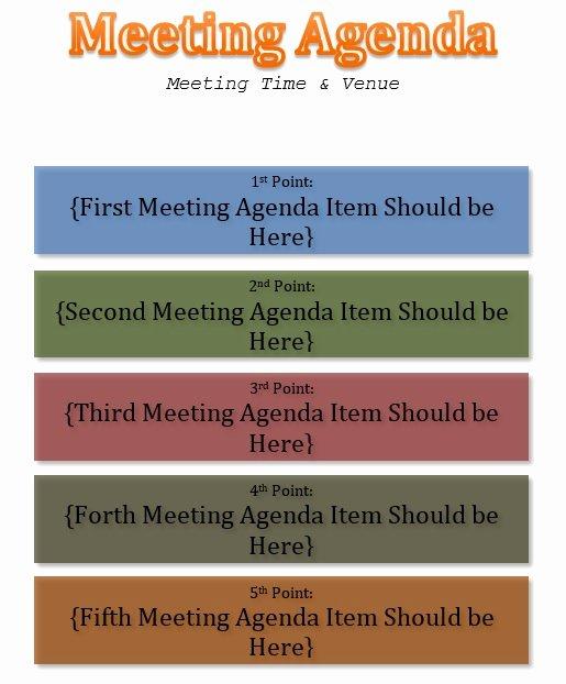 Informal Meeting Agenda Template Elegant 10 Free Sample Informal Agenda Templates for Your Casual
