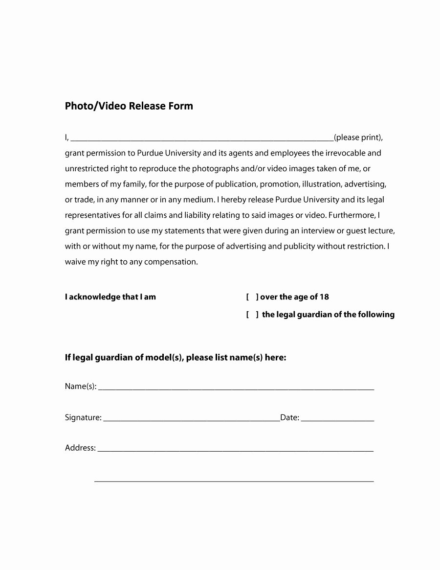 Information Release form Template Best Of 53 Free Release form Templates [word Pdf]