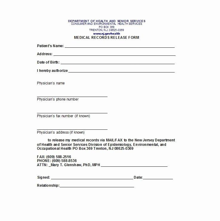 Information Release form Template Elegant 30 Medical Release form Templates Template Lab