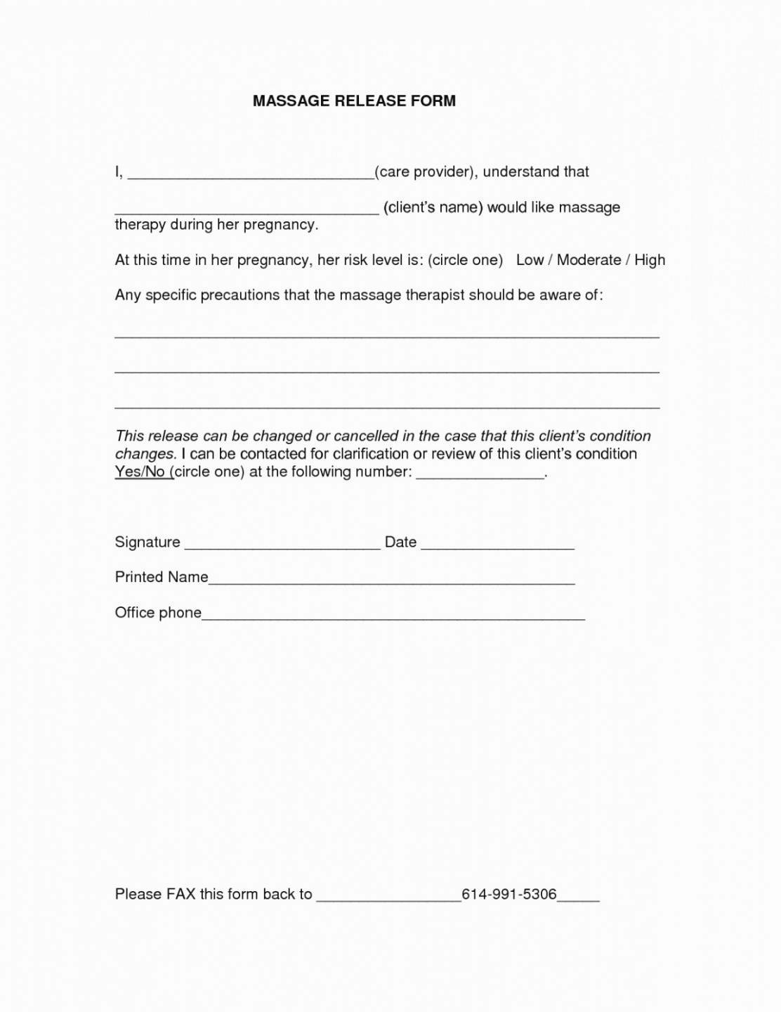 Information Release form Template Fresh Release Information form Counseling Template
