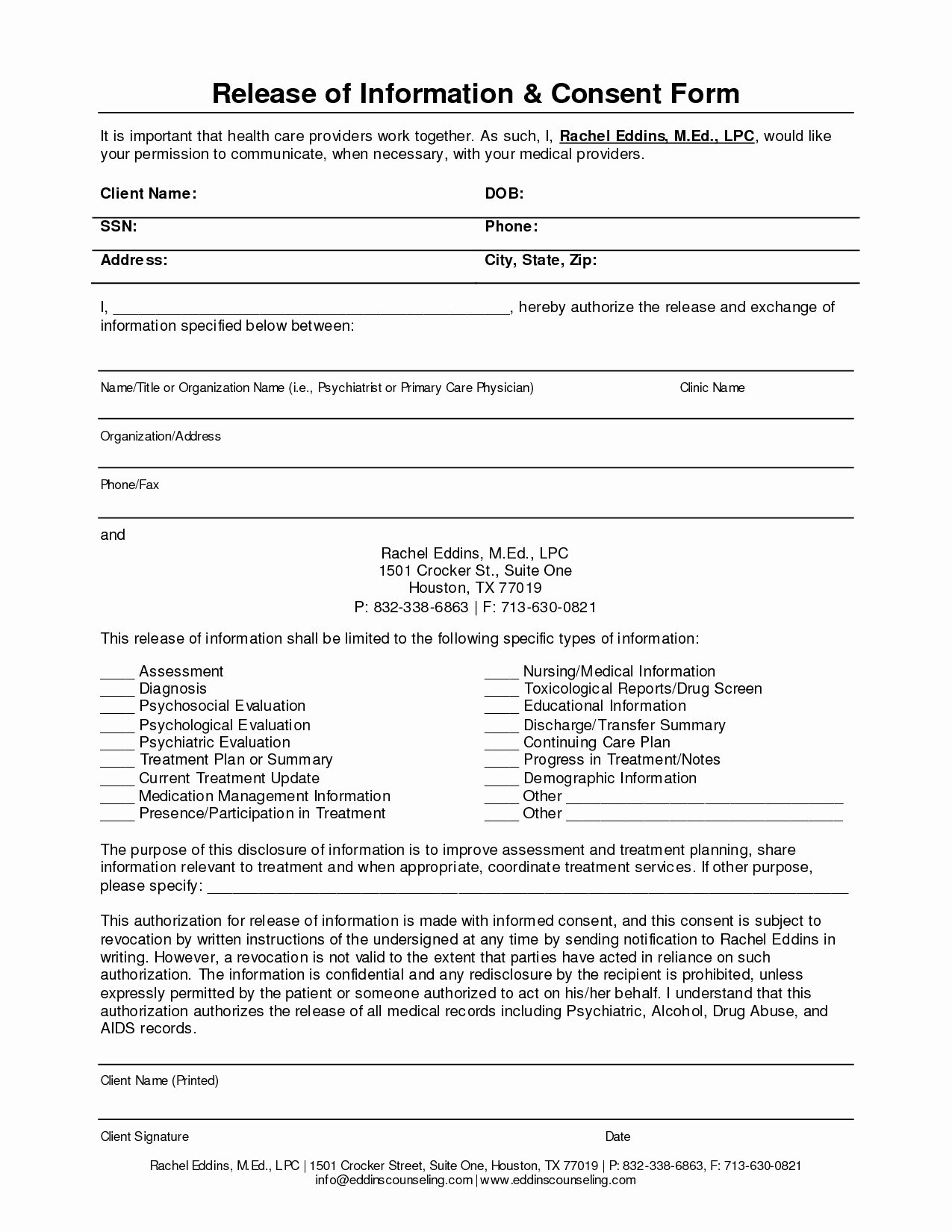 Information Release form Template Inspirational Release Information form Template