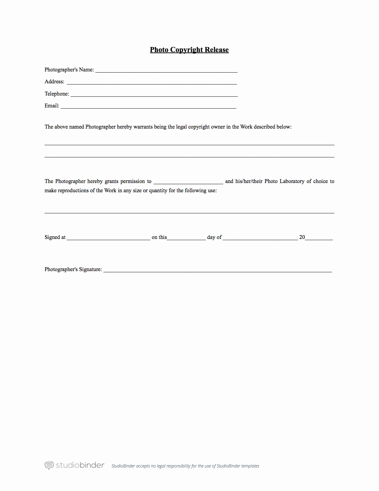 Information Release form Template Luxury why You Should Have A Release form Template