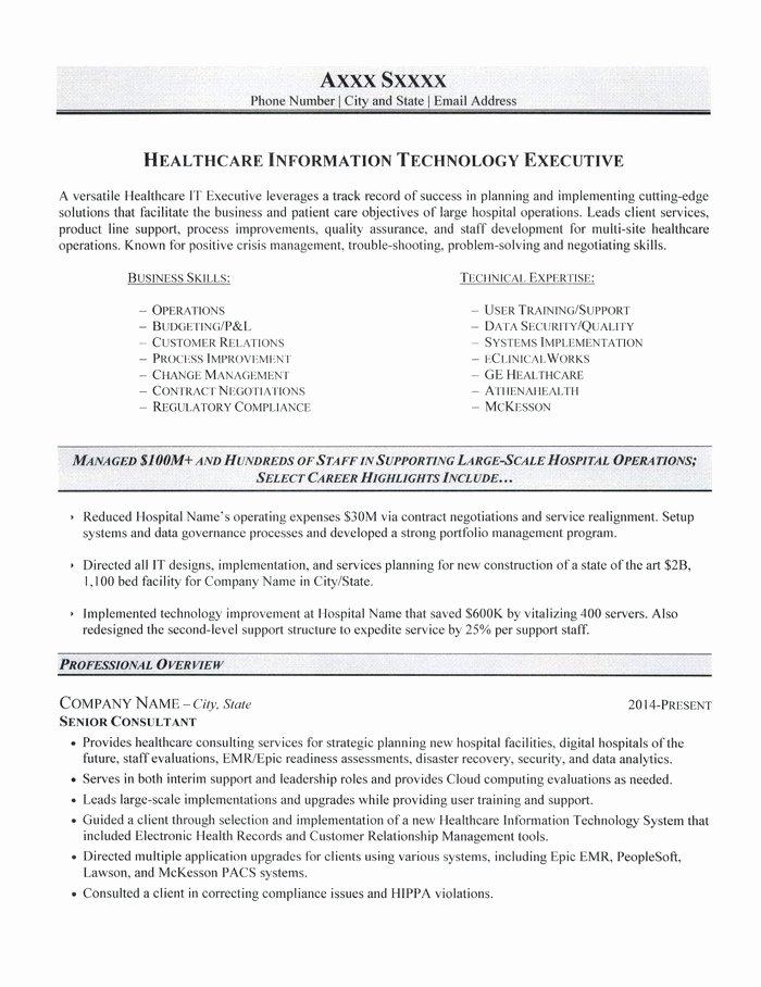 Information Technology Resume Template Elegant Information Technology Resume