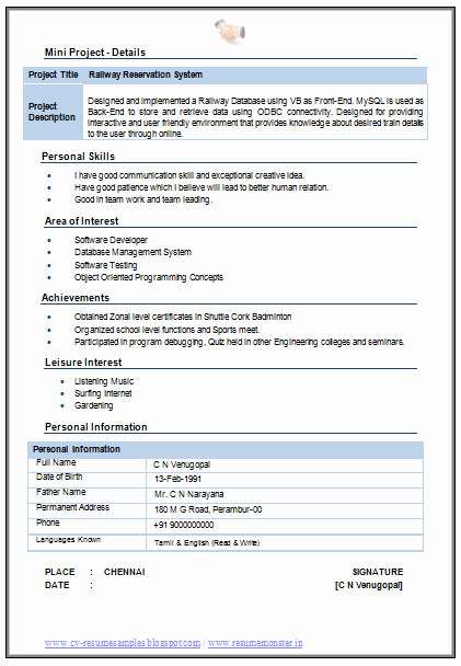 Information Technology Resume Template Inspirational Over Cv and Resume Samples with Free Download