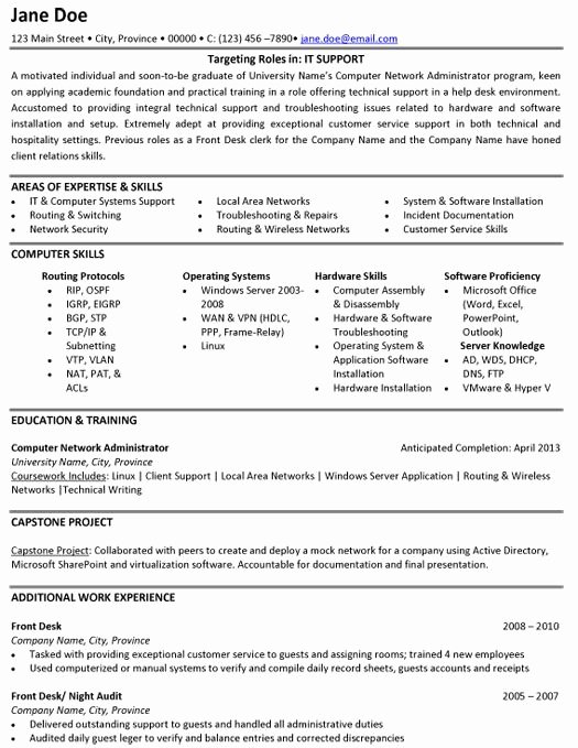 Information Technology Resume Template Luxury Pin by Yvie D Allaird On Information Technology