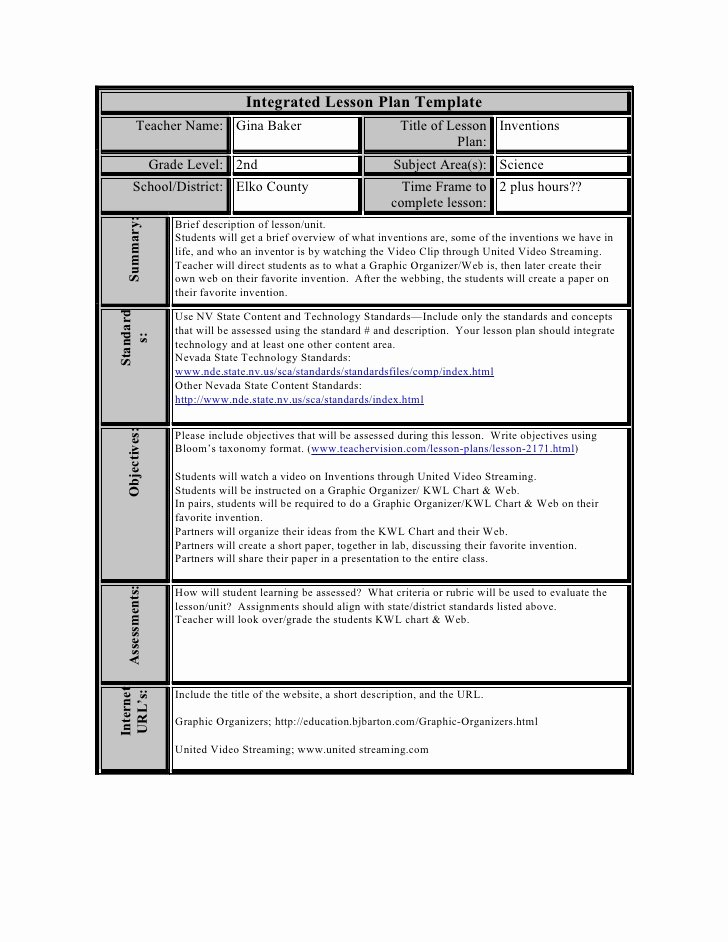 Integrated Lesson Plan Template Beautiful Constructivist Lesson Planning Template software Free