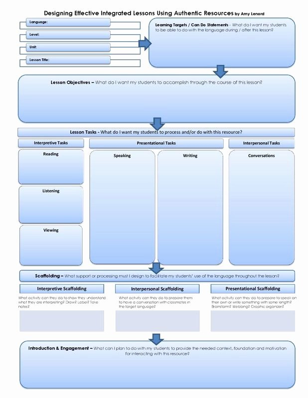 Integrated Lesson Plan Template Unique Amazing Layout for the 3 Modes Of Munication In A World