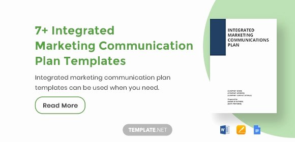 Integrated Marketing Plan Template Beautiful 7 Integrated Marketing Munication Plan Templates Pdf