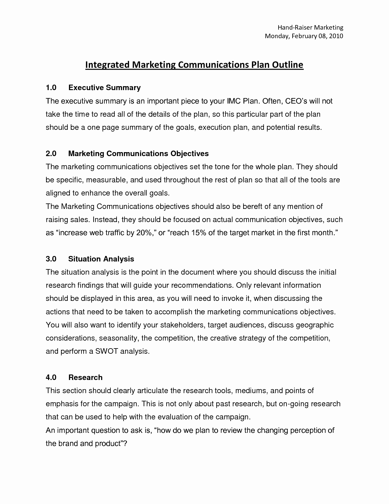 Integrated Marketing Plan Template Elegant Best S Of Marketing Munication Plan Template