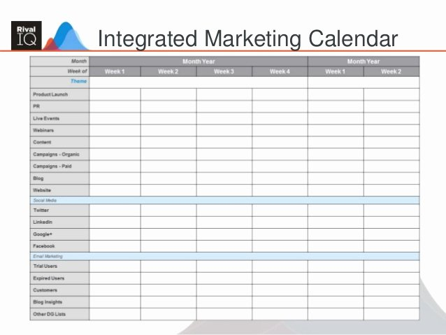 Integrated Marketing Plan Template New Building An Integrated Marketing Plan