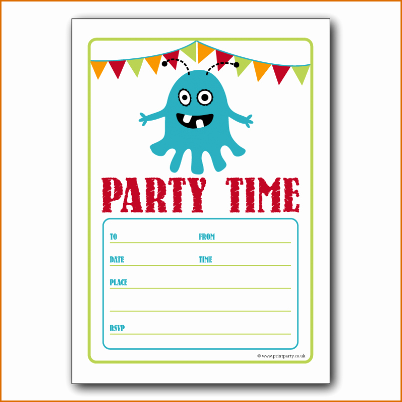 Kids Party Invitation Template Elegant 5 Party Invitation Templates