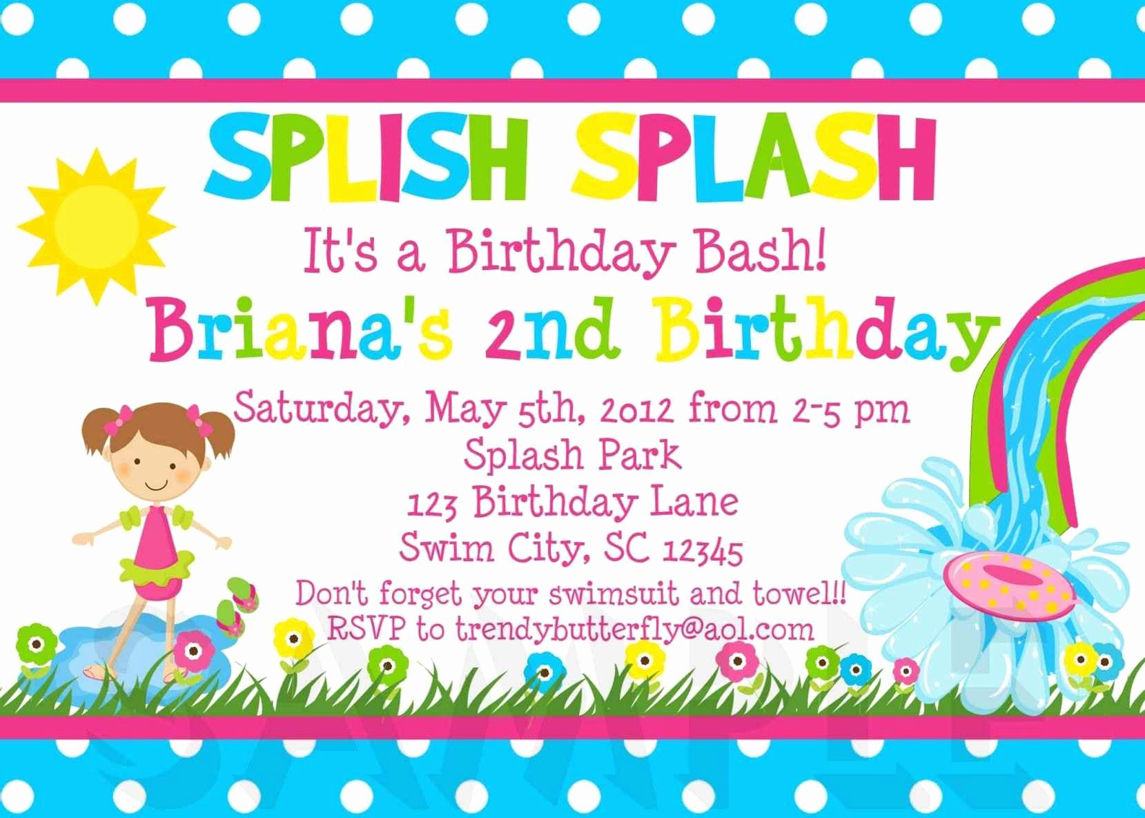 Kids Party Invitation Template Elegant Free Kids Party Invitation Templates Template Update234