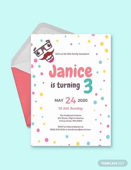 Kids Party Invitation Template Fresh 40 Kids Birthday Invitation Templates – Psd Ai Word