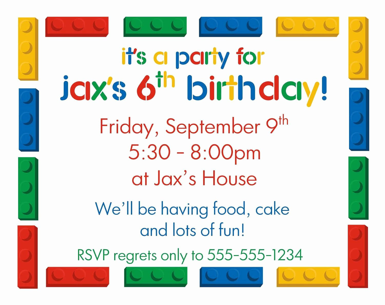 Kids Party Invitation Template Fresh Kids Birthday Party Invitations Templates Free Printable