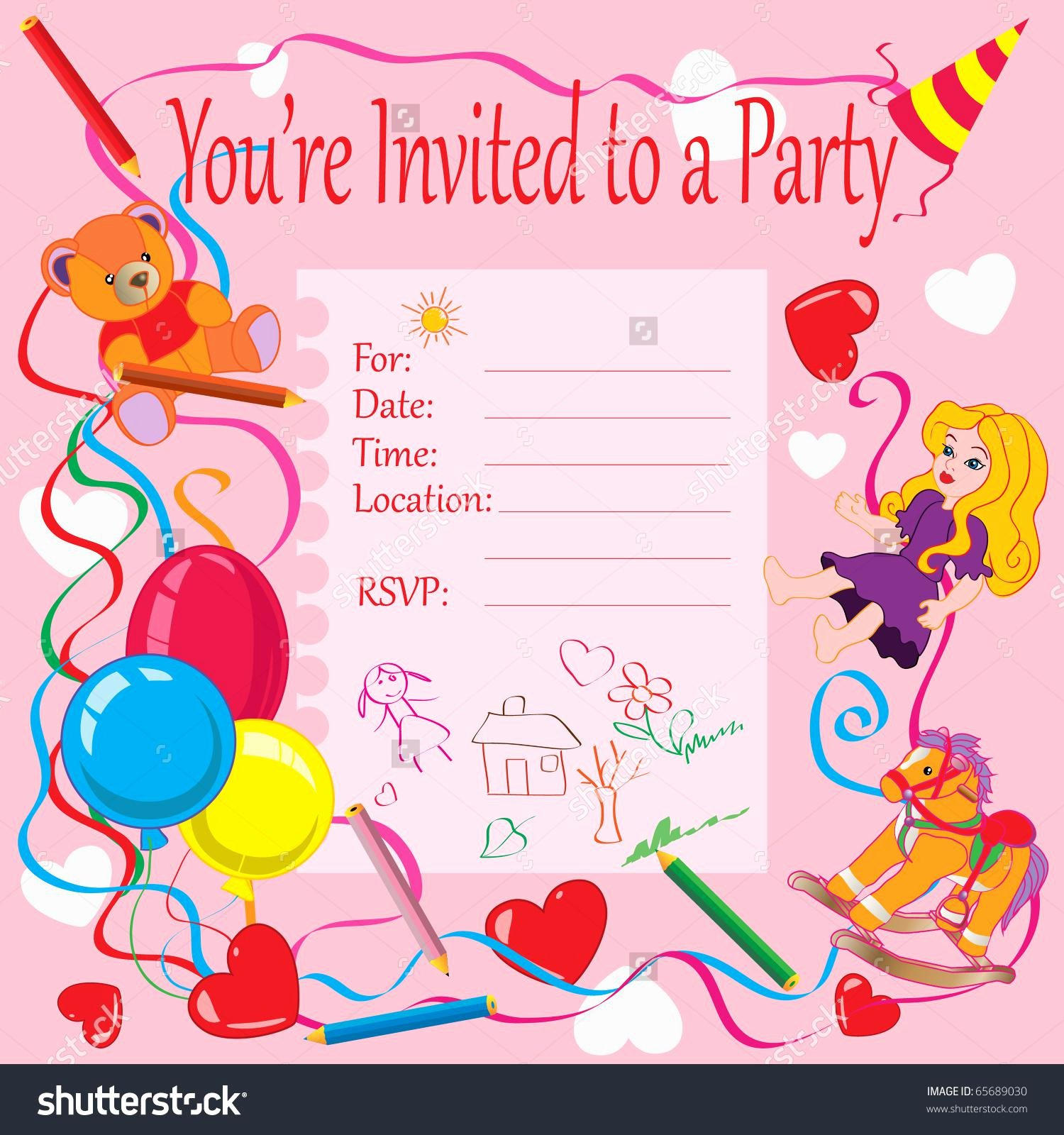 Kids Party Invitation Template Lovely 4 Step Make Your Own Birthday Invitations – Free Sample