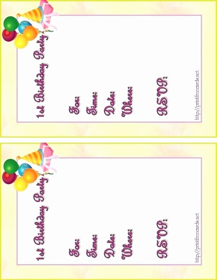 Kids Party Invitation Template Lovely Free Printable Kids Birthday Invitation Templates
