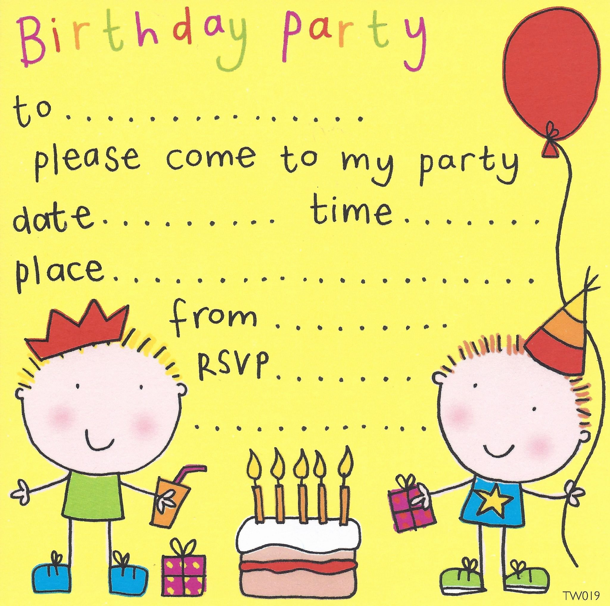 Kids Party Invitation Template New Free Birthday Party Invites for Kids – Free Printable