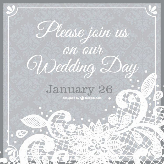 Lace Wedding Invitation Template Beautiful Wedding Invitation Lace Template Vector