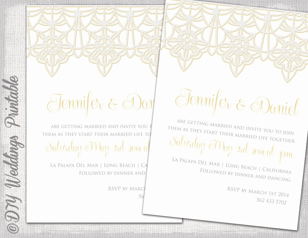 Lace Wedding Invitation Template Beautiful Wedding Invitation Template Lace Trim Silver