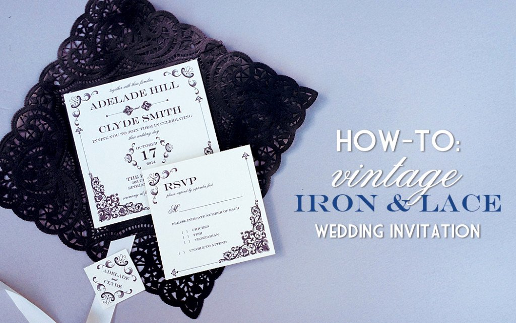 Lace Wedding Invitation Template Best Of Vintage Iron & Lace Wedding Invitation with Diy Lace Pocket