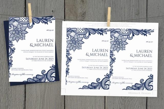 Lace Wedding Invitation Template Inspirational Diy Wedding Invitation Template Download Instantly